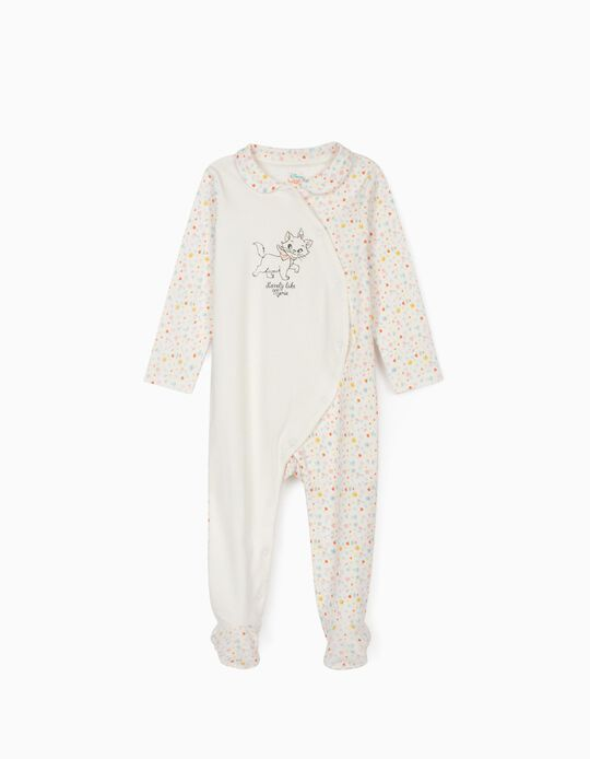 Sleepsuit for Baby Girls, 'Marie', White