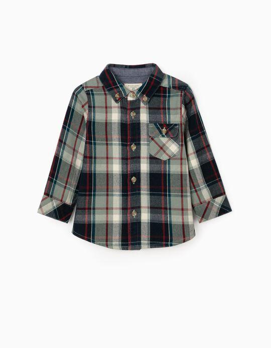 Camisa Xadrez para Bebé Menino 'B&S', Multicolor
