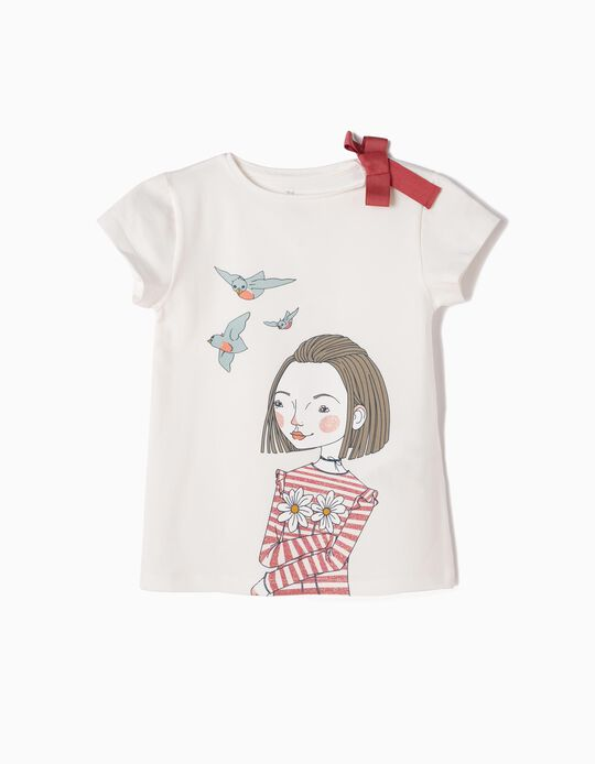Camiseta Love Birds Blanca