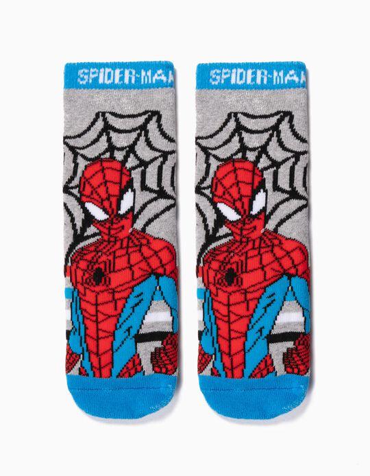 Meias Antiderrapantes para Menino 'Spider-Man', Cinza
