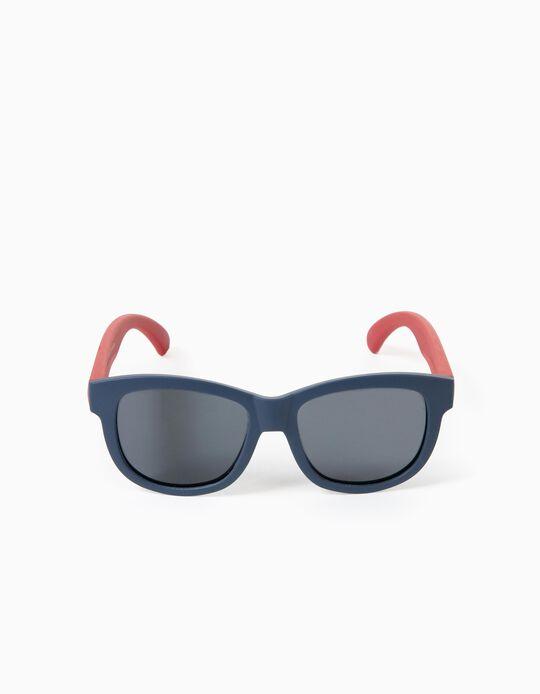 Flexible Sunglasses for Boys, Blue/Red
