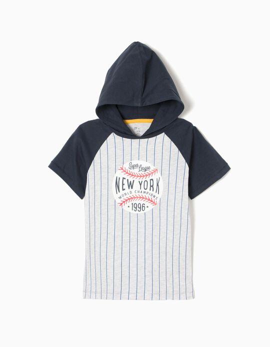 T-shirt com Capuz Baseball