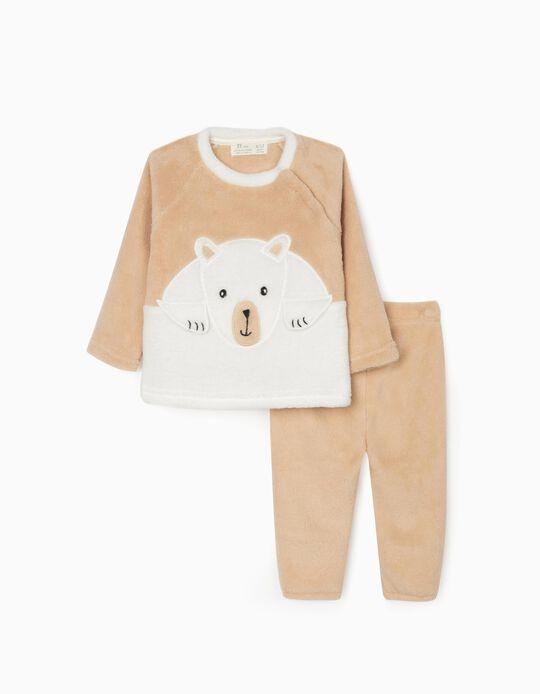 Pijama Coralina para Bebé, Bege