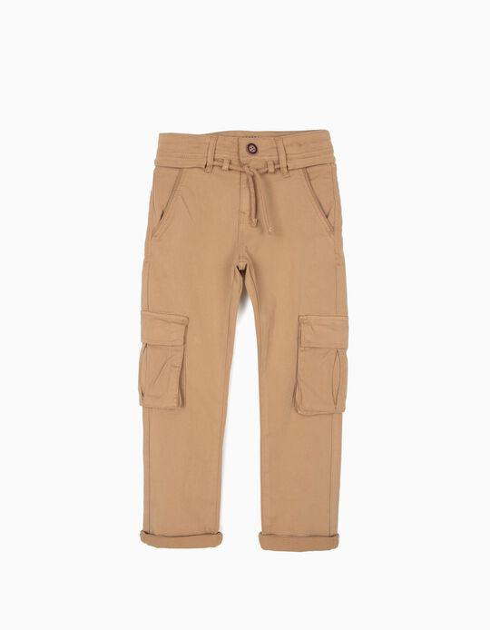 Pantalón Cargo para Niño, Camel