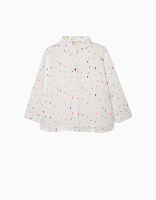 Camisa para Menina 'Dots', Branco