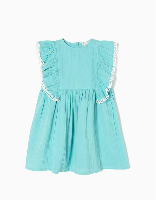 Vestido Algodão Azul Céu