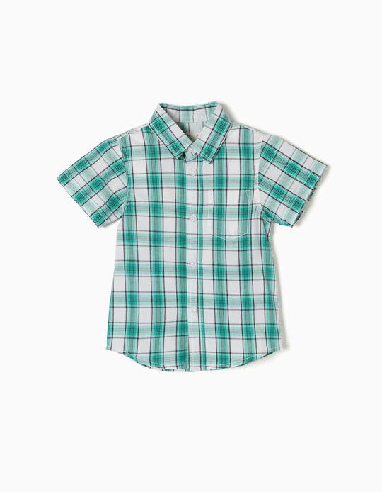 Camisa Ajedrez Verde