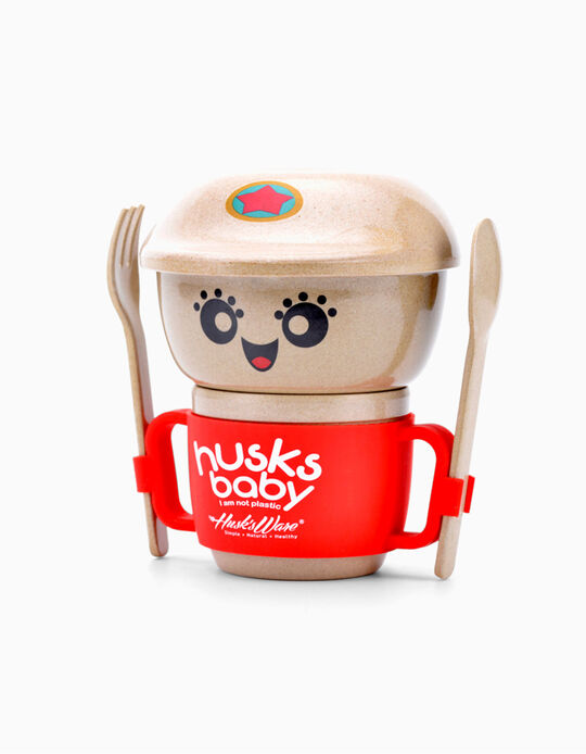 Conjunto de Alimentação Mini Husks Ware 5 pcs