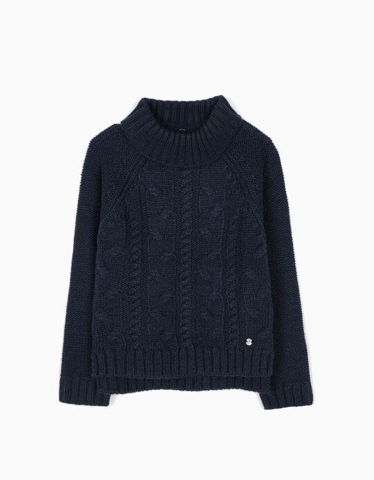 Camisola de Malha Azul Escura