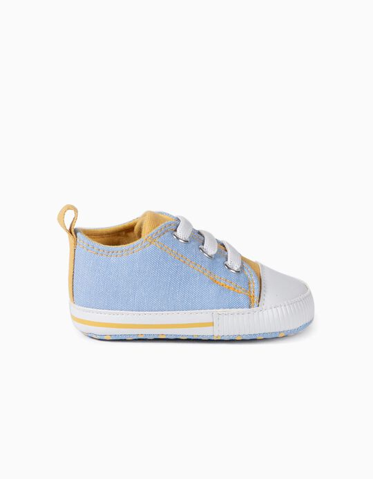 Trainers for Newborn Baby Boys, Blue/Yellow
