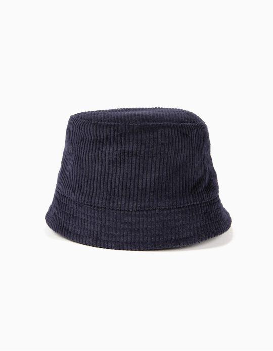 Sombrero de Pana Azul Oscuro