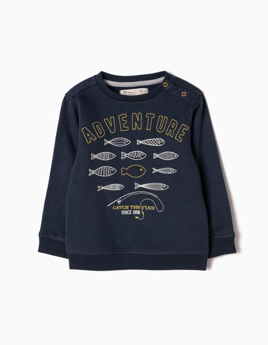 Sudadera Catch the Fish Azul
