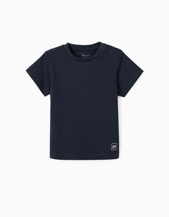 T-shirt para Bebé Menino, Azul Escuro