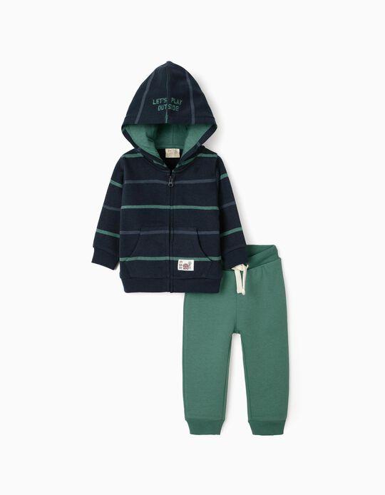Chándal para Bebé Niño, Azul Oscuro/Verde