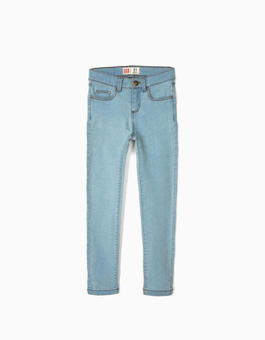 Pantalón Vaquero para Niña 'Skinny', Azul Claro