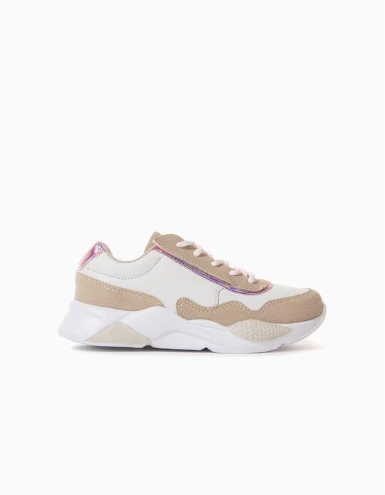 Zapatillas para Niña 'ZY Easy Sneaker', Blanco/Beige