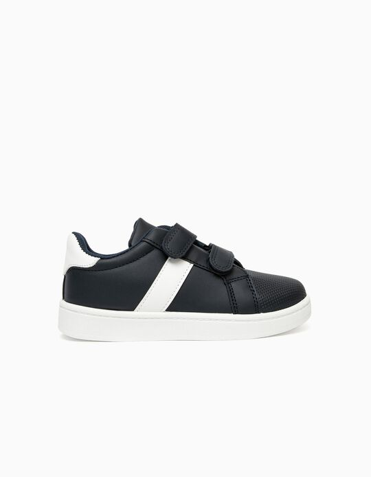 Trainers for Boys, Dark Blue/White