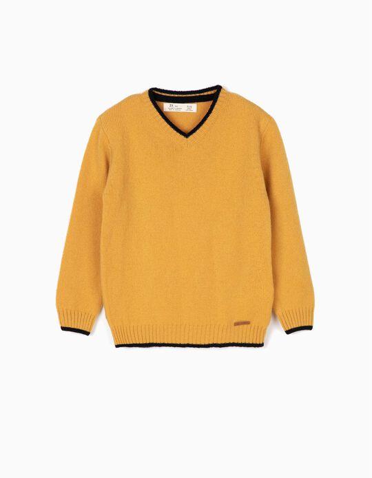 Camisola de Lã Menino Amarela