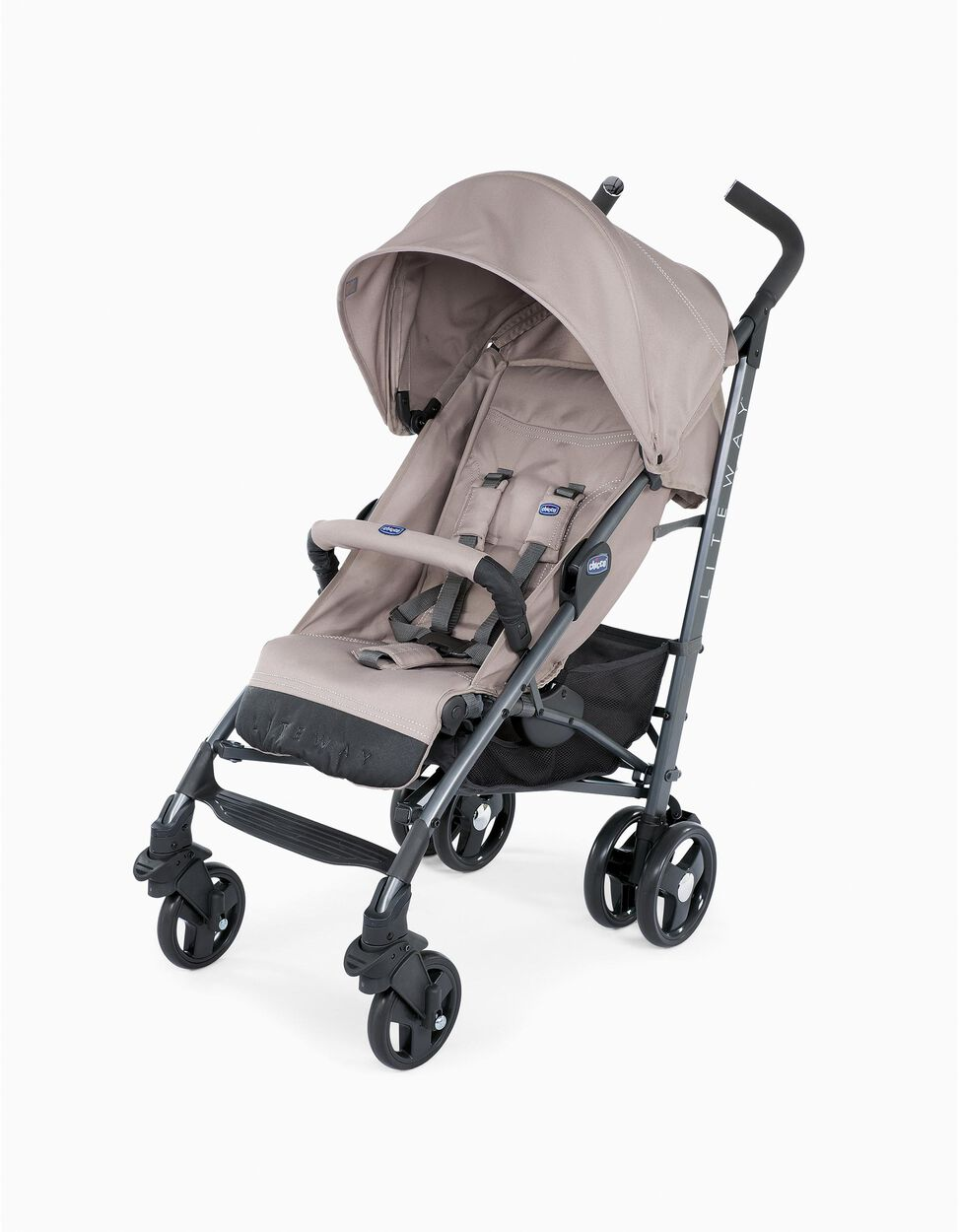 Lite Way 3 Pushchair by Chicco, Dark Beige