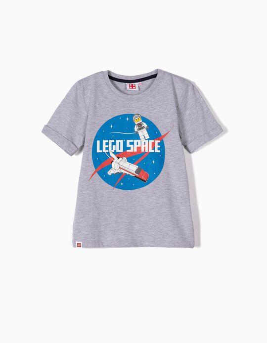 T-shirt para Menino 'Lego Space', Cinza
