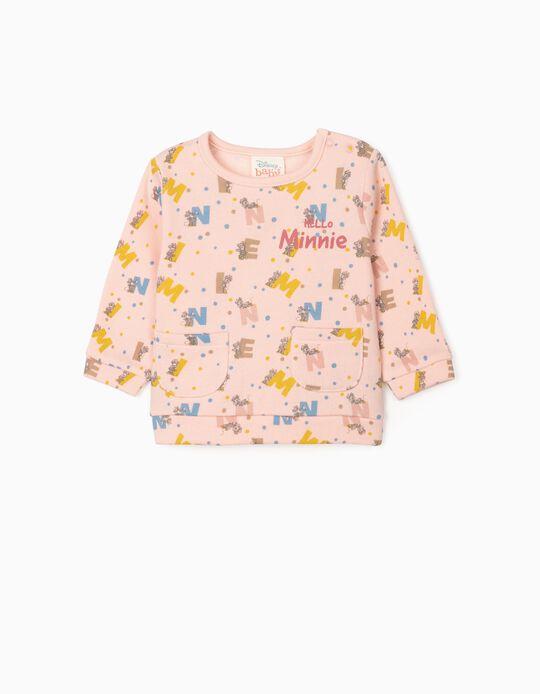 Sweat-Shirt Nouveau-Née 'Hello Minnie', Rose