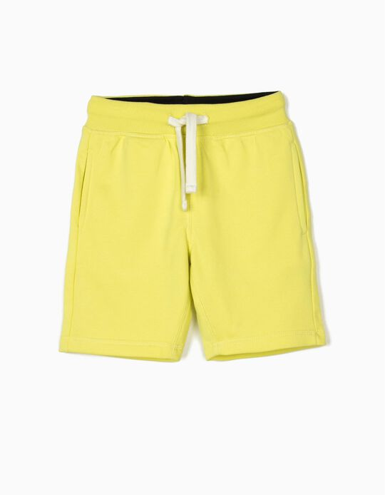 Sports Shorts for Boys, Fluorescent Yellow