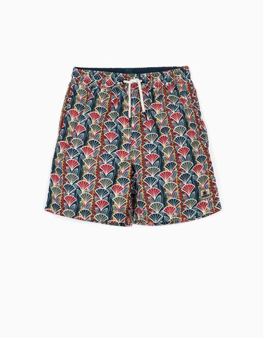 Printed Swim Shorts for Boys, Multicoloured