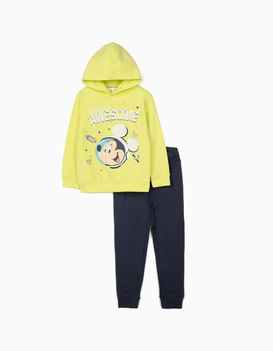 Tracksuit for Boys 'Mickey Mouse Astronaut', Lime Yellow