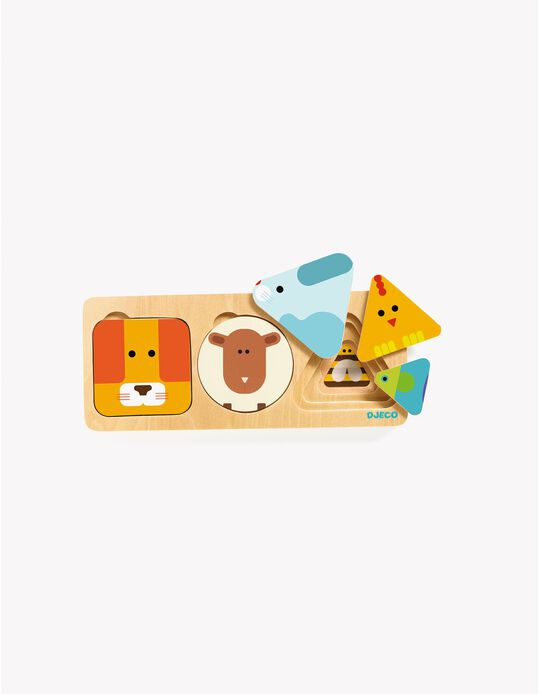 Puzzle de Encaixe em Madeira AnimaBasic Djeco