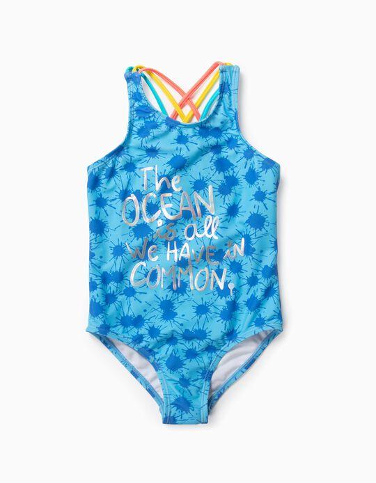 Fato de Banho para Menina 'Ocean', Azul