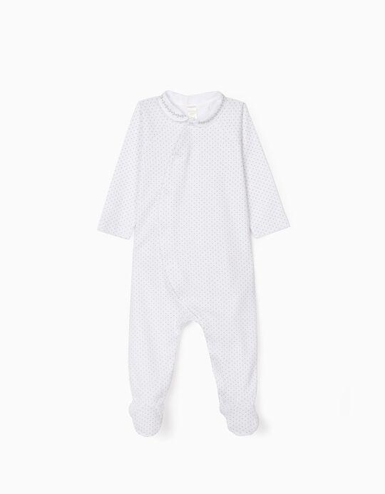 Babygrow for Newborn Baby Girls, White