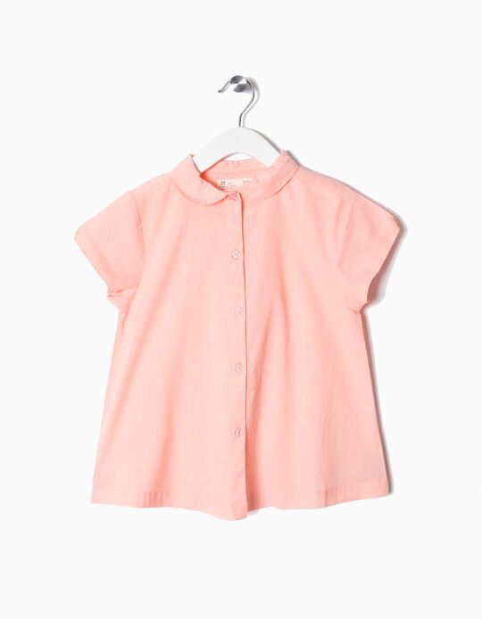 Short-Sleeved Blouse for Girls, Pink