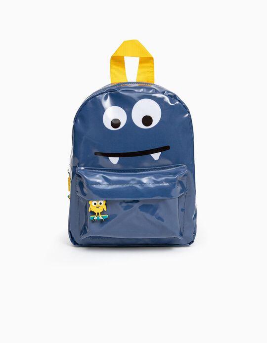 Waterproof Backpack for Boys 'Monsters', Blue