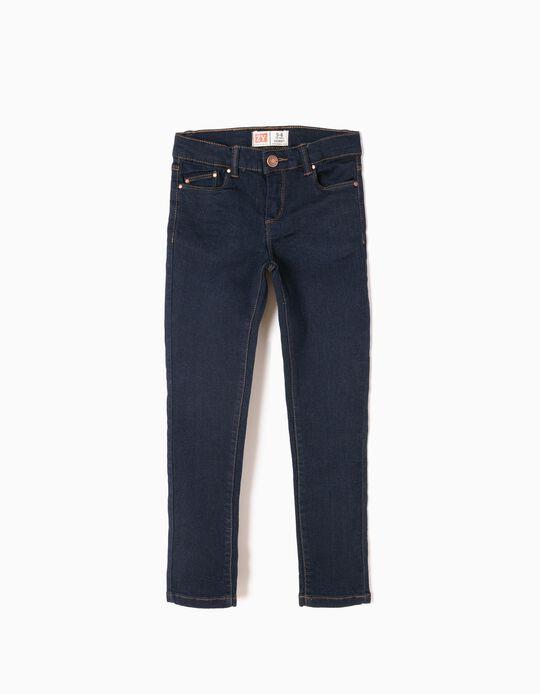 Pantalón Vaquero para Niña 'Skinny', Azul Oscuro