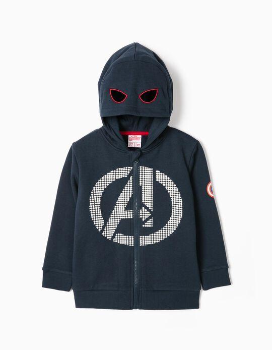 Chaqueta con Capucha Máscara para Niño 'Avengers', Azul Oscuro