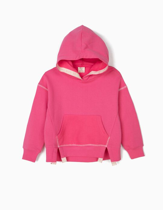 Sweatshirt com Capuz para Menina, Rosa