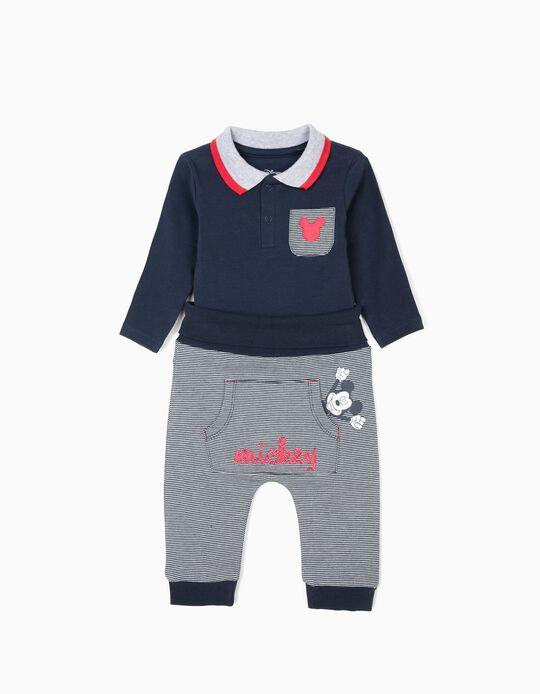 Body y Pantalón para Recién Nacido 'Mickey', Azul