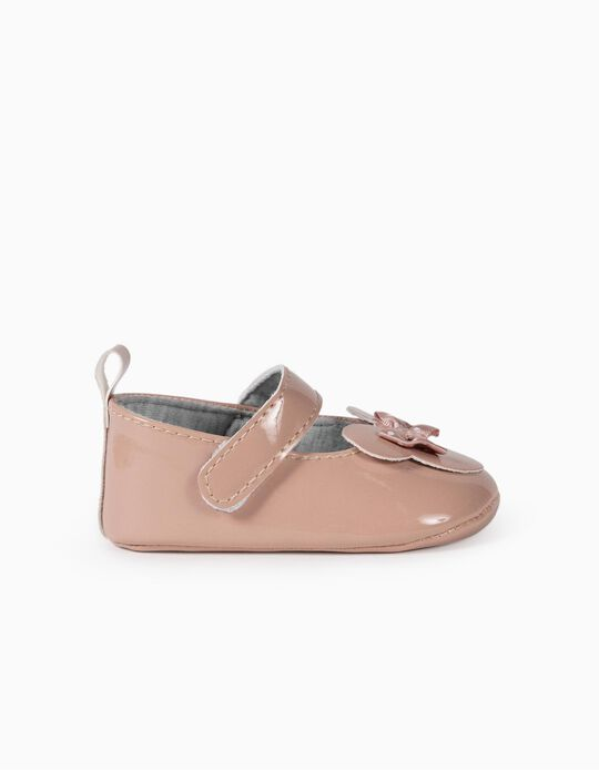 Ballet Pumps for Newborn Baby Girls, 'Minnie Mouse', Pink