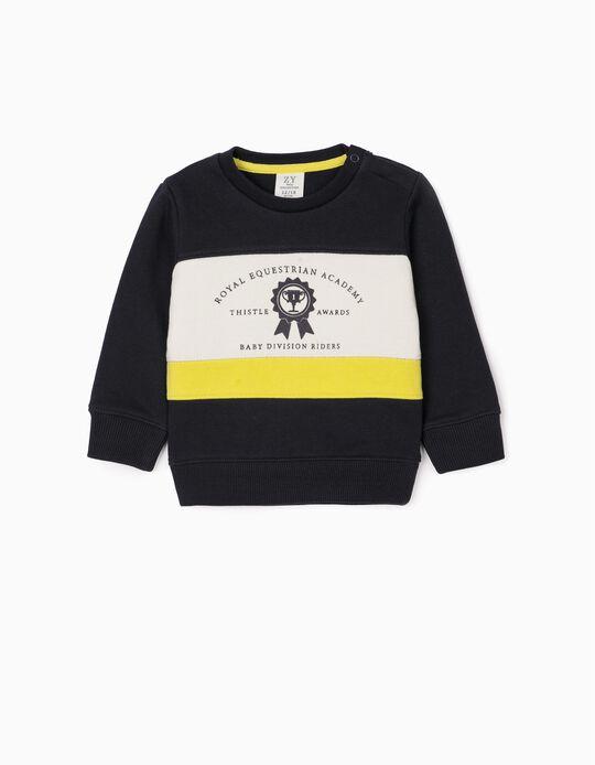 Sweatshirt para Bebé Menino 'Thistle Awards', Azul Escuro