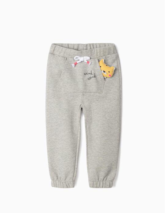 Pantalón de Chándal para Bebé Niña 'Wink Wink', Gris