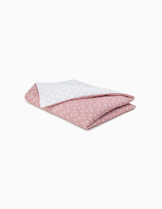 Jacquard Throw, Naiara Pielsa Baby Pink/White 70x90cm