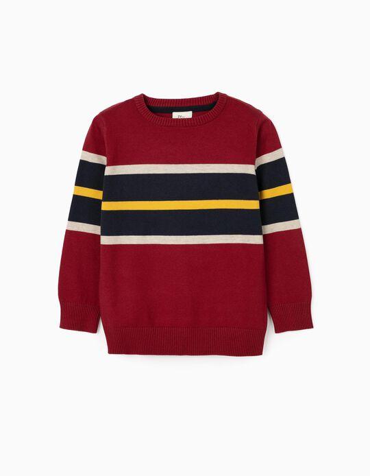 Jersey para niño, Burdeos/Rayas