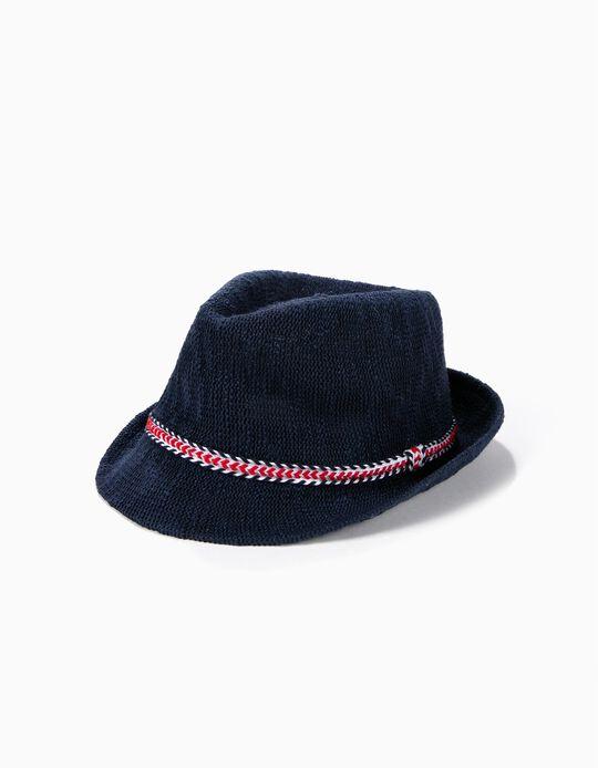 Sombrero con Solapa para Niño, Azul