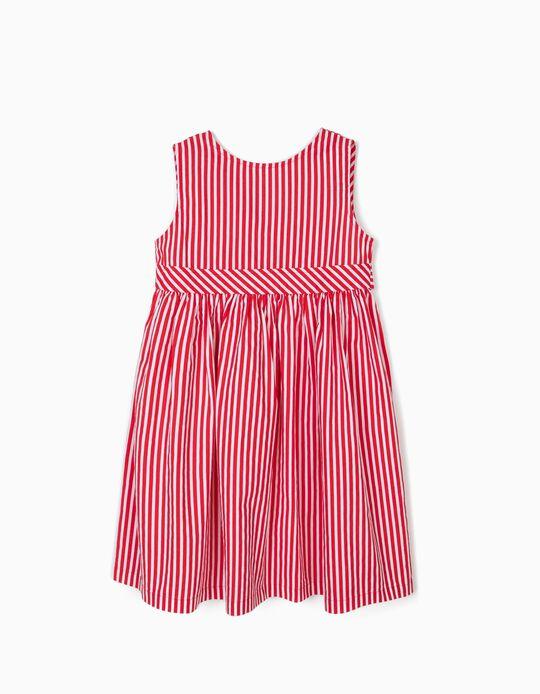 Vestido para Menina 'Stripes', Vermelho
