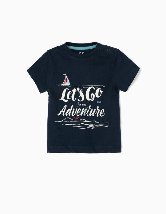 Camiseta para Bebé Niño 'Adventure', Azul Oscuro