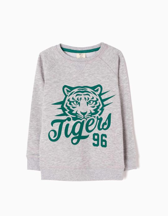 Sudadera Tigers 96 Gris