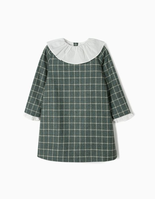 Plaid Dress for Girls 'B&S', Green