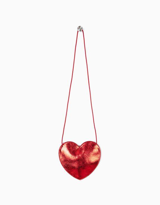 Bolso Bandolera para Niña 'Heart', Rojo