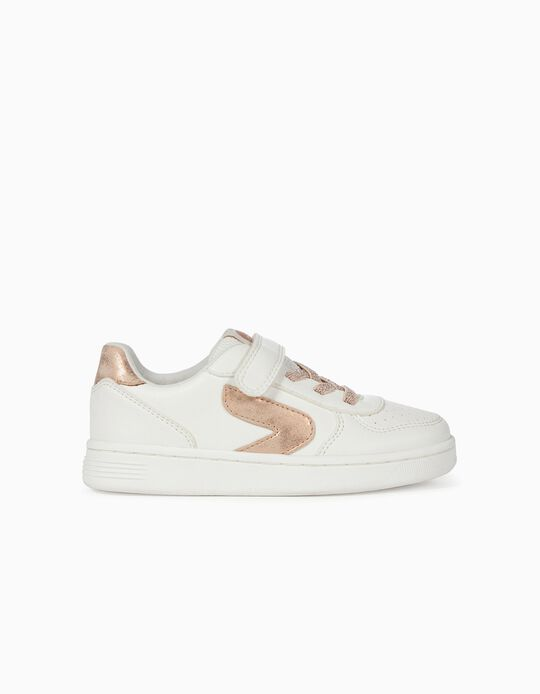 Trainers for Girls 'ZY Girl', White/Bronze