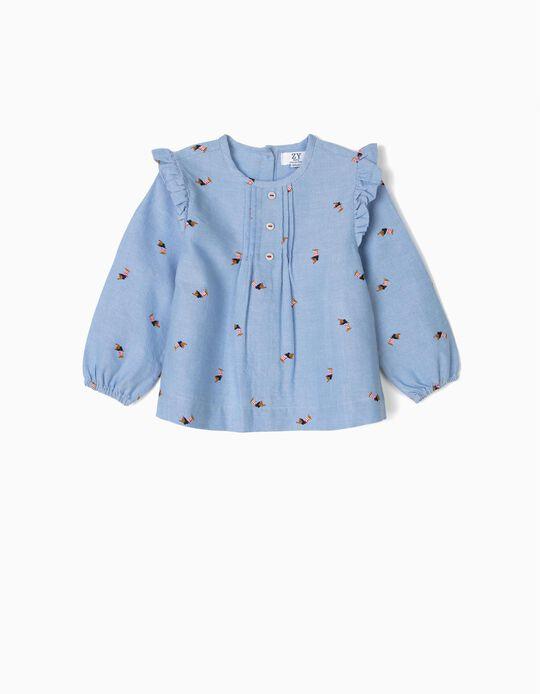 Blusa para Bebé Menina 'Dogs', Azul